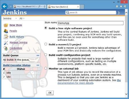 New Jenkins item