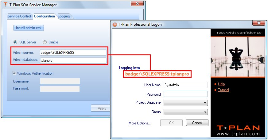 T-Plan Service Manager Window